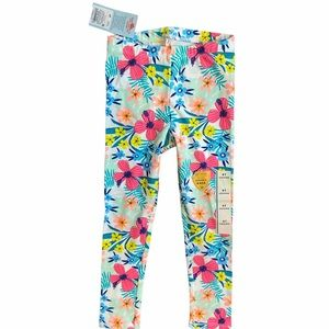 NWT Cat & Jack 4T Girls Floral Pattern Leggings/Tights